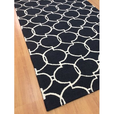 Wool Hand-Tufted Charcoal/Ivory Area Rug