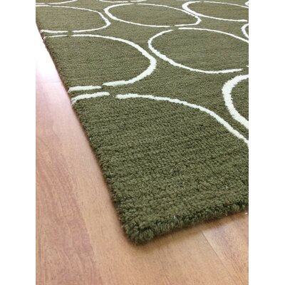 Wool Hand-Tufted Green/Ivory Area Rug