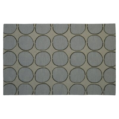 Wool Hand-Tufted Beige/Light Blue Area Rug Rug Size: 6 x 6