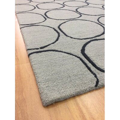 Wool Hand-Tufted Gray/Charcoal Area Rug