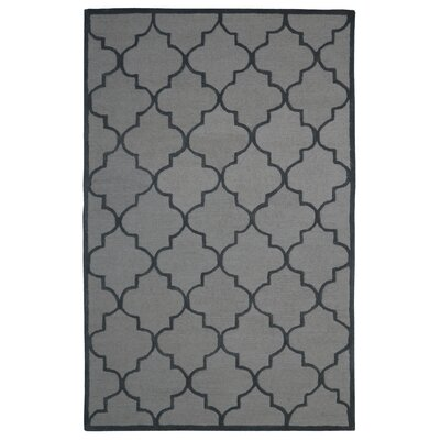 Wool Hand-Tufted Beige/Gray Area Rug Rug Size: 5 x 8