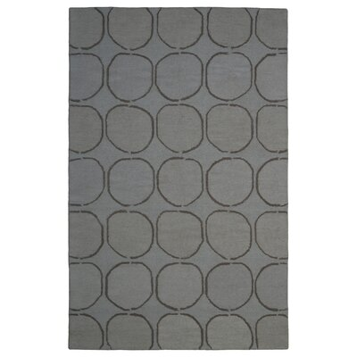 Wool Hand-Tufted Gray/Silver Area Rug Rug Size: 5 x 8