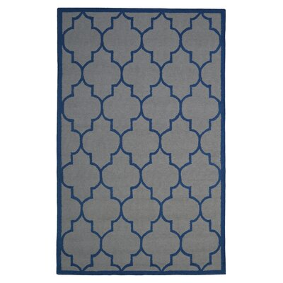 Wool Hand-Tufted Gray/Blue Area Rug Rug Size: 5 x 8