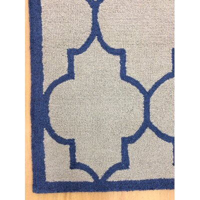 Wool Hand-Tufted Gray/Blue Area Rug