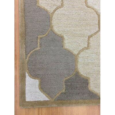 Wool Hand-Tufted Beige/Brown Area Rug