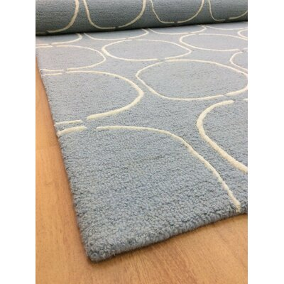 Wool Hand-Tufted Light Blue/Ivory Area Rug