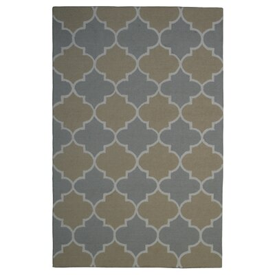Wool Hand-Tufted Rust/Silver Area Rug Rug Size: 5 x 8