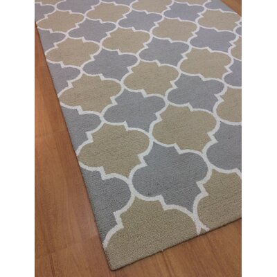 Wool Hand-Tufted Rust/Silver Area Rug