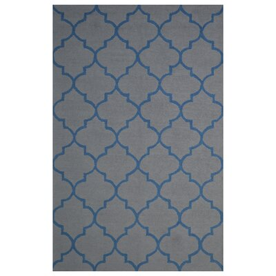 Wool Hand-Tufted Gray/Blue Area Rug Rug Size: 6 x 6