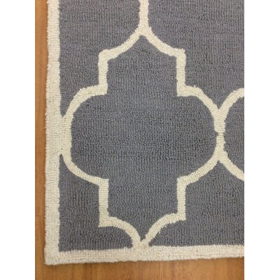 Wool Hand-Tufted Silver/Ivory Area Rug