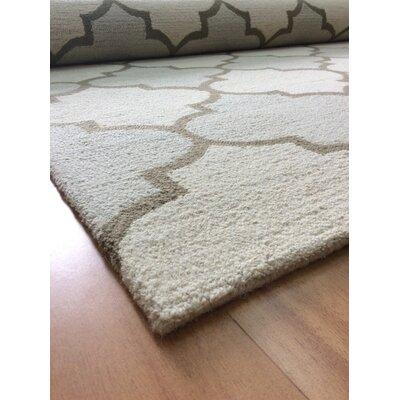 Wool Hand-Tufted Beige/Ivory Area Rug