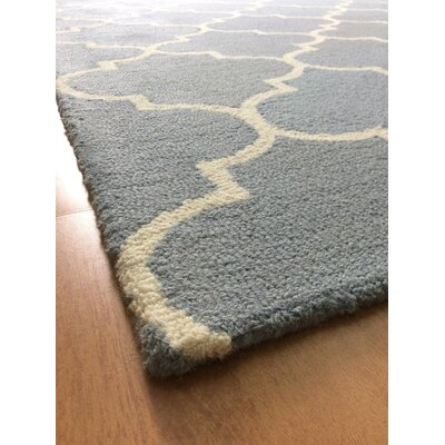 Wool Hand-Tufted Light Blue/Ivory Area Rug