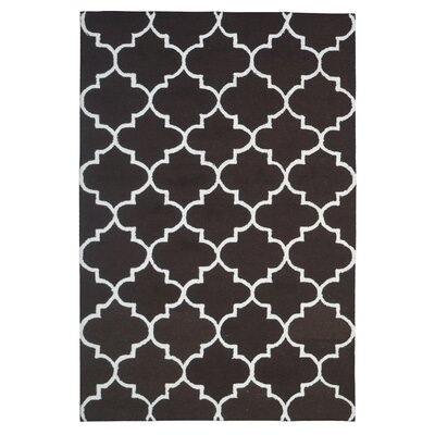 Wool Hand-Tufted Brown/Rust Area Rug Rug Size: 5 x 8