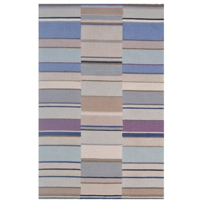 Wool Hand-Tufted Blue/Silver Area Rug Rug Size: 5 x 8