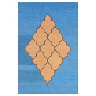 Wool Hand-Tufted Blue/Brown Area Rug Rug Size: 6 x 6