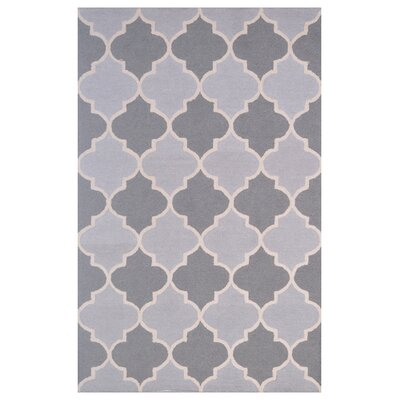 Wool Hand-Tufted Silver/Gray Area Rug Rug Size: 5 x 8