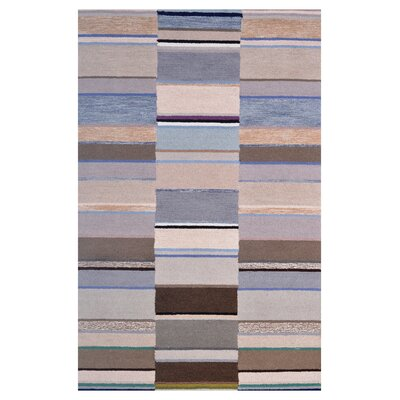 Wool Hand-Tufted Beige/Silver Area Rug Rug Size: 6 x 6