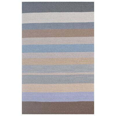 Wool Hand-Tufted Gray/Silver Blue Area Rug Rug Size: 6 x 6