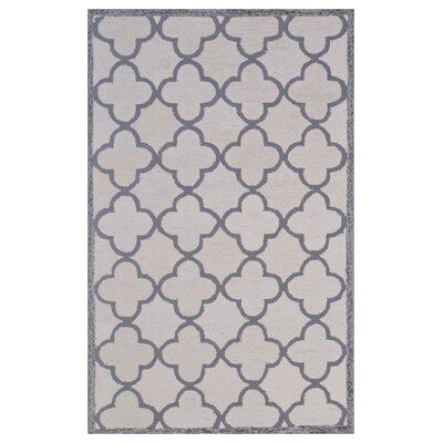 Wool Hand-Tufted Beige/Gray Area Rug Rug Size: 6 x 6
