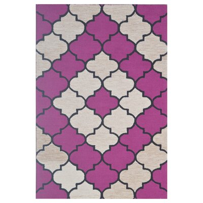 Wool Hand-Tufted Brown/Pink Area Rug Rug Size: 5 x 8