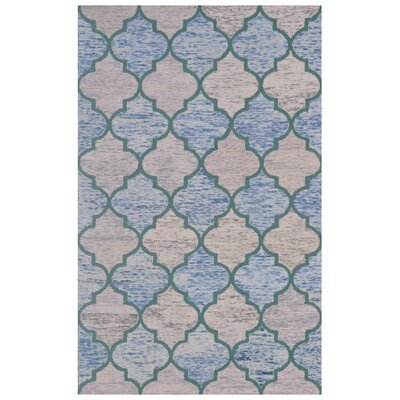 Wool Hand-Tufted Brown/Blue Area Rug Rug Size: 5 x 8