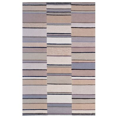 Wool Hand-Tufted Rust/Ivory Area Rug Rug Size: 5 x 8