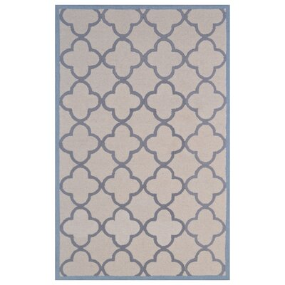 Wool Hand-Tufted Ivory/Silver Area Rug Rug Size: 6 x 6