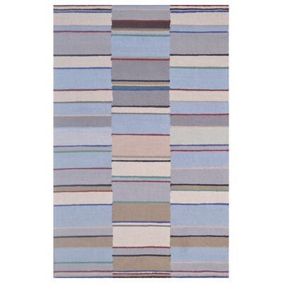 Wool Hand-Tufted Silver/Blue Area Rug Rug Size: 5 x 8