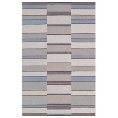 Wool Hand-Tufted Blue/Ivory Area Rug Rug Size: 6 x 6
