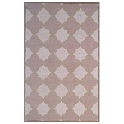 Wool Hand-Tufted Pink/Ivory Area Rug Rug Size: 5 x 8