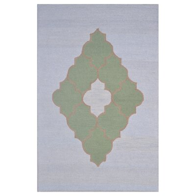 Wool Hand-Tufted Blue/Green Area Rug Rug Size: 6 x 6