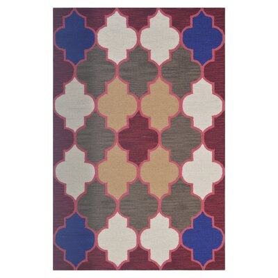 Wool Hand-Tufted Red/Brown Area Rug Rug Size: 5 x 8