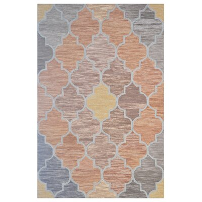 Wool Hand-Tufted Orange/Brown Area Rug Rug Size: 5 x 8