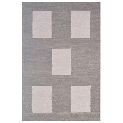 Wool Hand-Tufted Beige/Gray Area Rug Rug Size: Rectangle 6 x 6