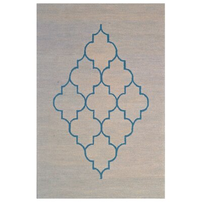 Wool Hand-Tufted Blue/Gray Area Rug Rug Size: 5 x 8