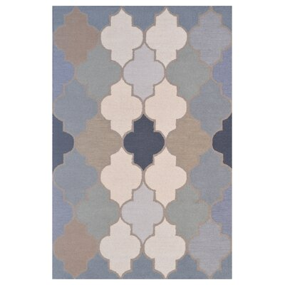 Wool Hand-Tufted Green/Blue Area Rug Rug Size: 6 x 6