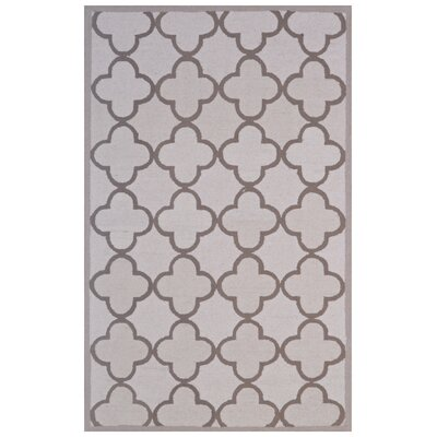 Wool Hand-Tufted Ivory/Brown Area Rug Rug Size: 5 x 8