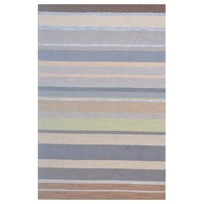 Wool Hand-Tufted Gray/Brown Area Rug Rug Size: 6 x 6