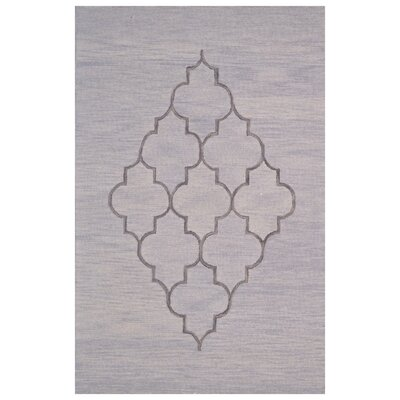 Wool Hand-Tufted Gray Area Rug Rug Size: 6 x 6