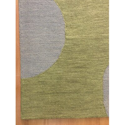 Wool Hand-Tufted Silver/Green Area Rug