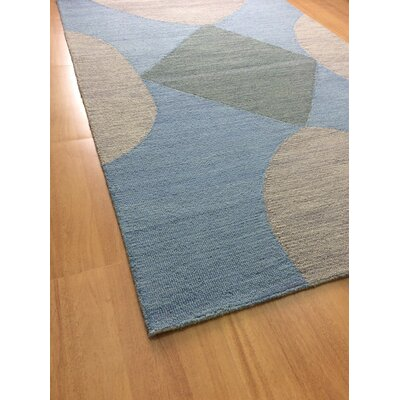 Wool Hand-Tufted Light Blue/Beige Area Rug
