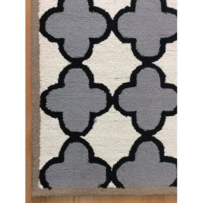 Wool Hand-Tufted Ivory/Gray Area Rug