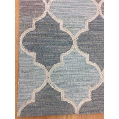 Wool Hand-Tufted Blue/Gray Area Rug
