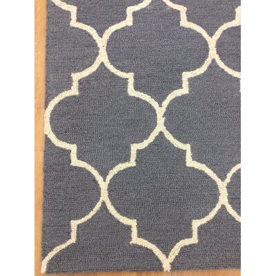 Wool Hand-Tuftedn Gray/Ivory Area Rug