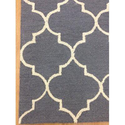 Wool Hand-Tuftedn Gray/Ivory Area Rug