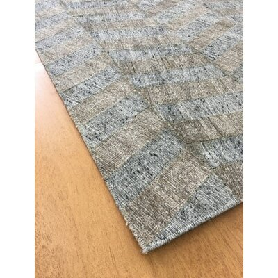 Hand-Woven Gray / Brown Area Rug Rug Size: Rectangle 6 x 9