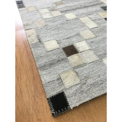 Hand-Woven  Gray / Charcoal Area Rug Rug Size: Rectangle 4 x 6