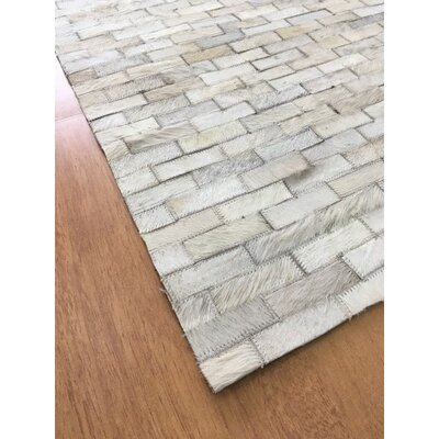 Hand-Woven Ivory Area Rug Rug Size: Rectangle 4 x 6
