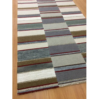 Hand-Woven Ivory/Gray Area Rug Rug Size: 5 x 8