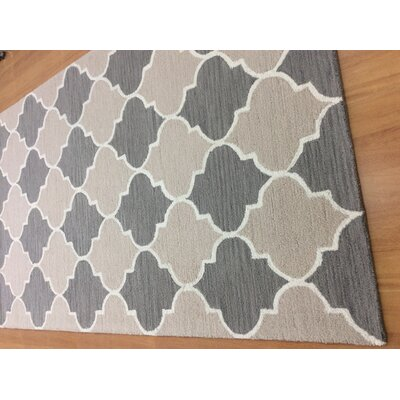 Hand-Woven Brown/Gray Area Rug Rug Size: 6 x 6